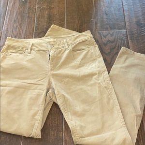 The loft light tan corduroy pants